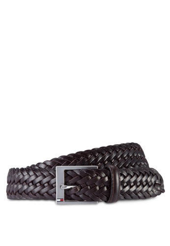 Tommy Hilfiger black AUSTIN BRAIDED BELT 3.5 TO861AC44FKTMY_1