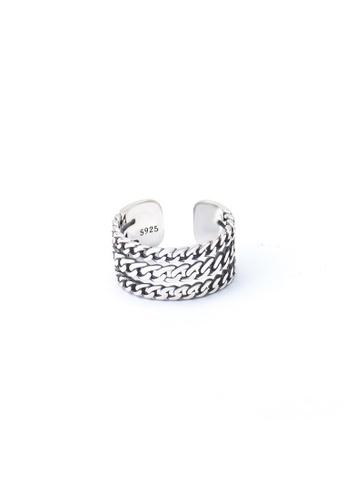 A-Excellence silver Premium S925 Sliver Geometric Ring 7688EACABC33DFGS_1