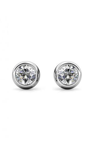 Her Jewellery white Birth Stone Moon Earring April Diamond WG - Anting Crystal Swarovski by Her Jewellery F4D69ACB27ED4BGS_1