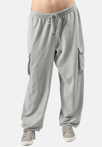 London Rag grey Drawstring Jogger Pants 18C11AAC7C3100GS_1