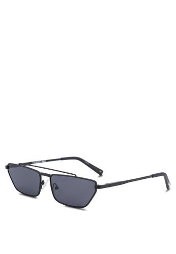 Le Specs black Electricool Sunglasses 1A27DGLFB12AC8GS_1