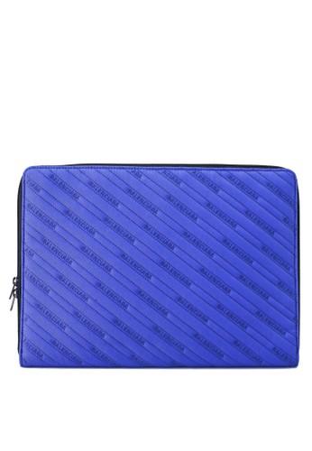 Balenciaga blue Explorer Clutch  (zt) 4E37EACE932CF4GS_1