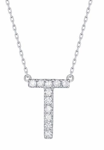 Smiling Rocks 白色 10K白金0.16克拉實驗室培植鑽石訂製系列項鍊 2ED62AC3D00A9FGS_1