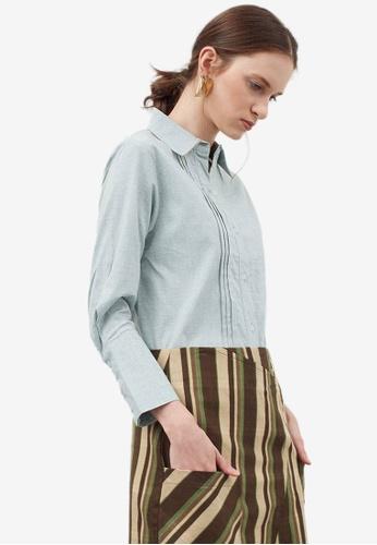 Berrybenka green Halcyon Shirt 4F01BAAC6B1C19GS_1