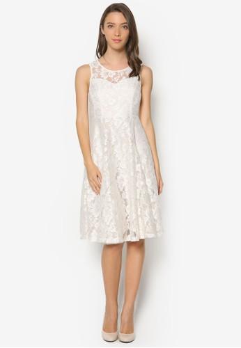 Arianna 蕾絲及膝esprit hong kong洋裝, 服飾, 正式洋裝
