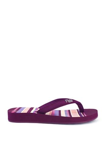 Ripples purple Lynette Stripes Ladies Sandals FF2C5SHF092328GS_1