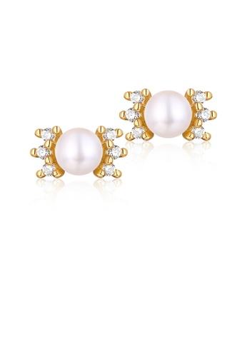 SUNSET gold Premium 18K Gold Pearl Earring B6740ACC12534BGS_1