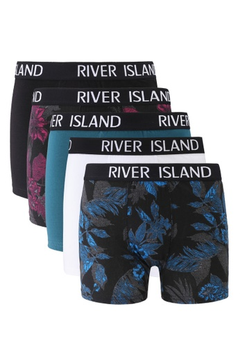 River Island red and multi Moody Floral Trunks 8260FUSFCAA14AGS_1