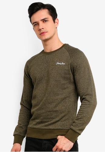 Jack & Jones 綠色 Hide 圓領Sweater 4A4E4AA6CFFD82GS_1