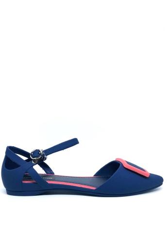 Twenty Eight Shoes 藍色 尖頭中空果凍膠平底鞋 513-1 CDD31SH270ED69GS_1