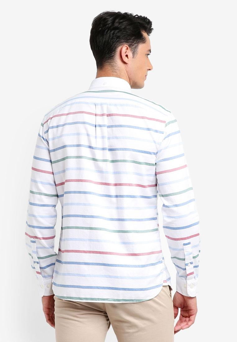 Stripe Shirt Brooks Fleece Horizontal White Open Multi Brothers Breton Red Stripe AgX6Yq