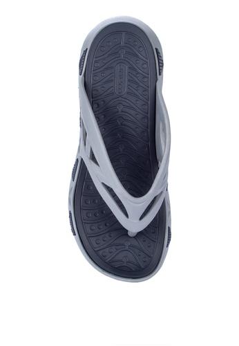 Krooberg grey and navy Wave Flip Flops 10B4CSH600371BGS_1