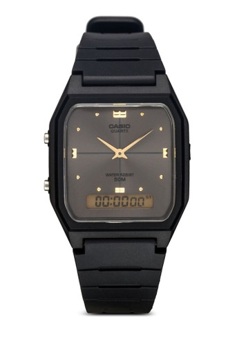 AW-48HE-8AVDF 雙顯esprit china橡膠男錶, 錶類, 飾品配件