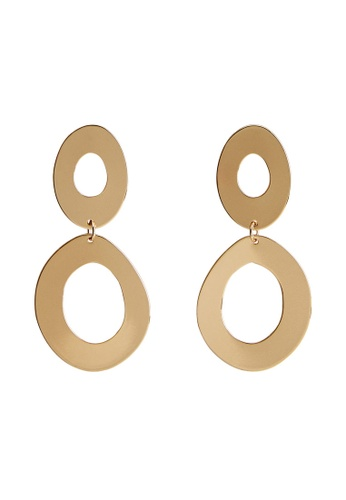 Mango gold Circular Pendant Earrings 54ABCACB25DE70GS_1