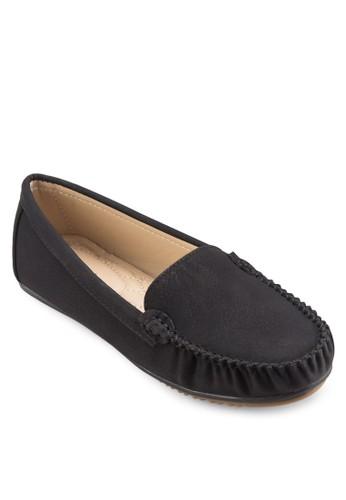 縫線esprit 香港細節麂皮樂福鞋, 女鞋, 鞋