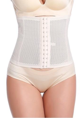 MOOIMOM beige MOOIMOM 29cm Ultralong Corset Postpartum Breathable Korset Pelangsing Pasca Melahirkan Nude MO368US26DEBID_1