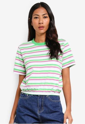 Cotton On multi Summer Multi Stripe White Top 429EDAAF54FCACGS_1