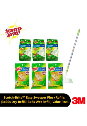 Scotch-Brite 3M Scotch-Brite™Easy Sweeper Plus + Refills (3x 20s Dry Refill + 3x 8s Wet Refill) Value Pack 881D5ES8E229EDGS_1