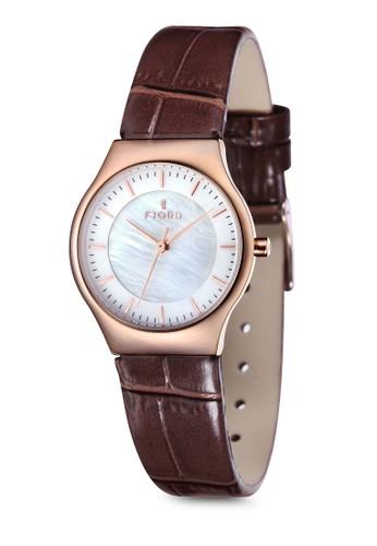 O尖沙咀 espritLLE 三指針皮革錶, 錶類, 飾品配件