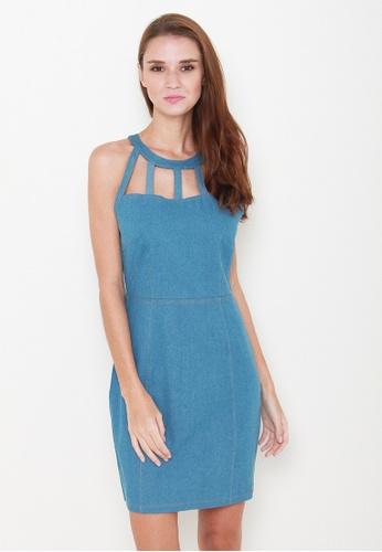 Leline Style blue Chancy Denim Dress LE802AA11LJKSG_1