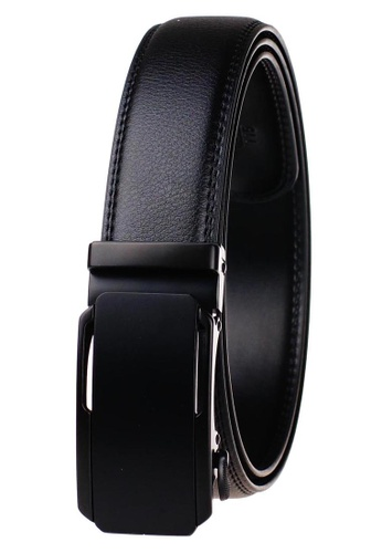 FANYU black Leather Dress Belt With Automatic Buckle belt 5F2BEAC81563A6GS_1