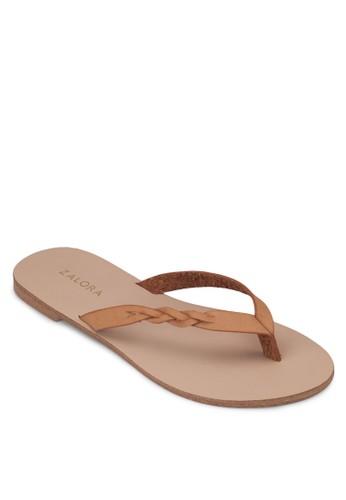 編織人字夾zalora 包包評價腳拖, 女鞋, 涼鞋