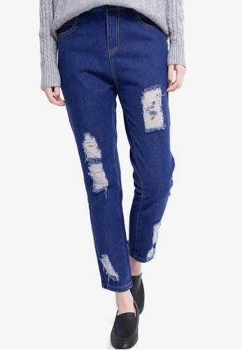 Tokichoi blue Distressed Boyfriend Jeans 5C668AA5A8201BGS_1