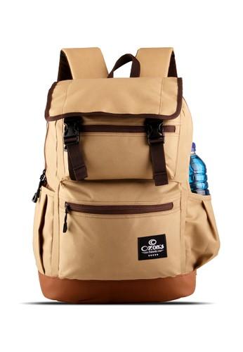 Ozone brown Ozone Laptop Backpack 161 Authentic Cordura + Raincover - Coklat 51463ACAD12BEAGS_1