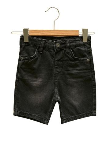 LC Waikiki black Boy's Denim Shorts 11534KAEAA70BDGS_1