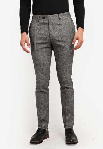 Topman 灰色 Salt & Pepper Textured Ultra Skinny Suit Trouser TO413AA0RSZAMY_1