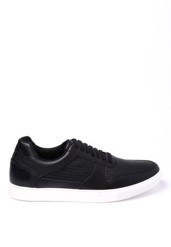 Kent & Crew black Faux Leather Sneakers KE584SH0U9CHID_1