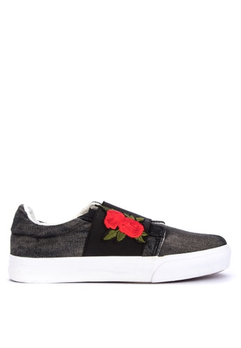 BENCH black Canvas Sneakers 647B8SH72F125AGS_1
