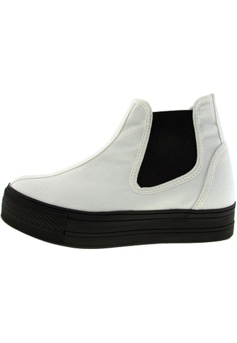 Maxstar 白色 新款韩国鞋C30-SideSpan時尚帆布布混合女白色 US Women Size MA345SH16HEDTW_1