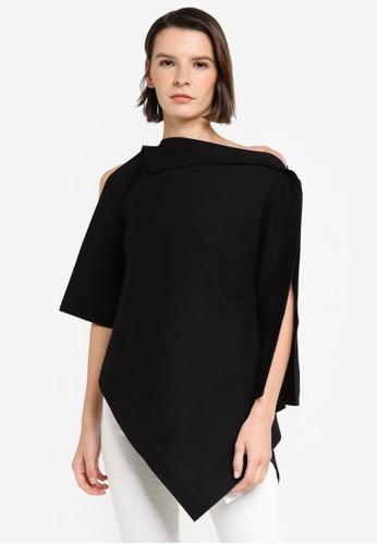 ck Calvin Klein black CLEAN FACE INTERLOCK TOP B8AE3AA88176EFGS_1