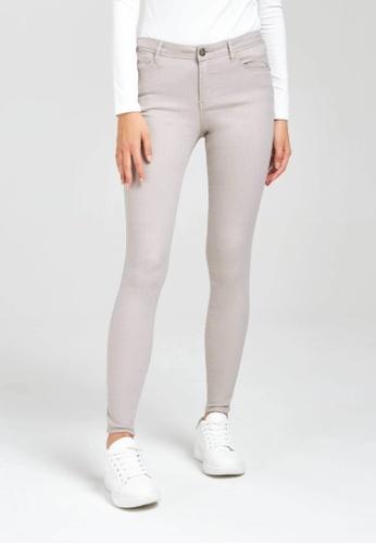 Terranova grey Plain Push-Up Effect Trousers 06DCDAA22AFB25GS_1