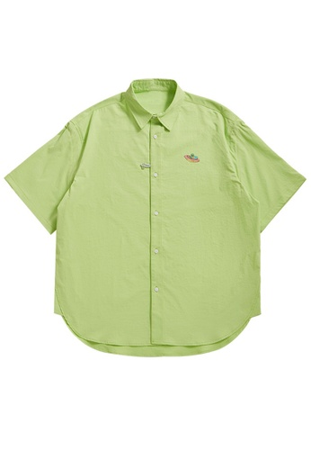 Twenty Eight Shoes Loose Printed Short Sleeve Shirt 2228S21 27678AAF24A8A1GS_1