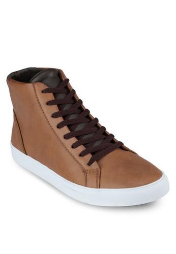繫帶高筒運動鞋, 鞋, 休zalora 鞋評價閒鞋