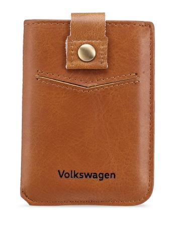 Volkswagen brown Embossed Card Holder 6404BACEAAE28BGS_1