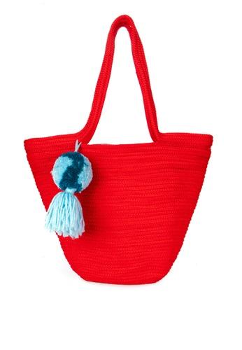 IRAYA-MANGYAN ART red Colored Rope Bag 93DF4ACBB1FC4DGS_1