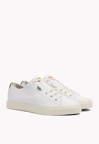 Tommy Hilfiger white UNLINED LEATHER LOW CUT SNEAKE 2D822SH79B79B2GS_1