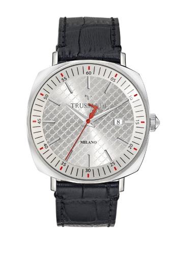 Trussardi black T-King Quartz Watch R2451121002 Black Leather Strap D955DACB92E25DGS_1