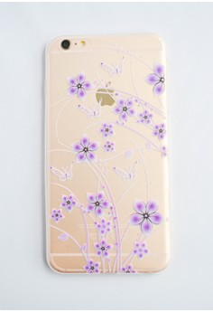 Flowers Soft Transparent Case for iPhone 6+