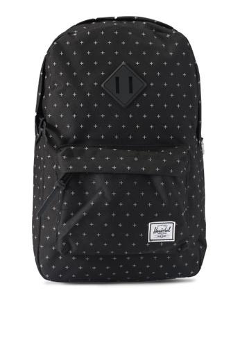 Herschel black Heritage Mid-Volume Backpack DB649ACD787664GS_1