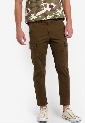SPARROW GREEN green Kendrix Cargo Slim Pants SP065AA82XPLMY_1