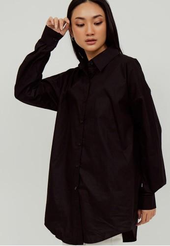 Boss Babe the Label black Odette Oversized Shirt in Black 0B989AA7C4C7C1GS_1