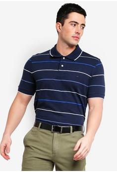 372f66bb6 Brooks Brothers navy Red Fleece Navy Multi Stripe Polo Shirt  4B7BFAA0438AB2GS 1