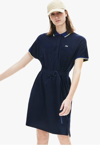 Lacoste navy Women's Kimono-Sleeved Flowy Polo Dress 8E1F0AAA8CA36EGS_1