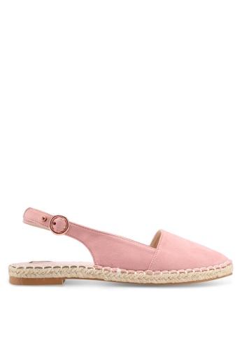 Velvet pink Slingback Espadrille E5E6DSH9AB39F2GS_1