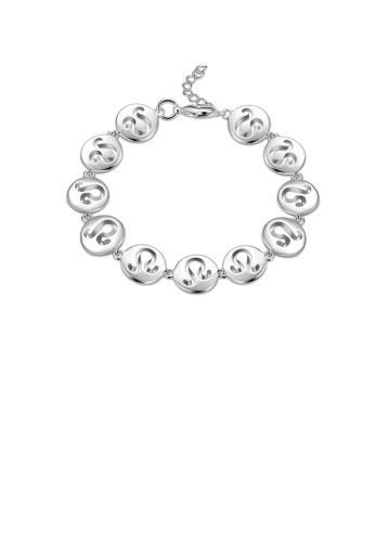 Glamorousky silver Fashionable Simple Leo Round Bracelet B693DAC560C3A2GS_1