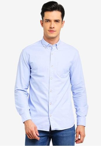 MANGO Man blue Regular-Fit Cotton Shirt 0B4B5AAF0AD54DGS_1